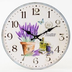 Nástenné hodiny, Flor0140, Provence, 34cm