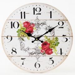 Nástenné hodiny, Flor0143, Ruže, 34cm