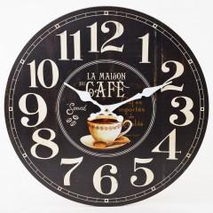 Nástenné hodiny, Flor0148, La Maison Café, 34cm
