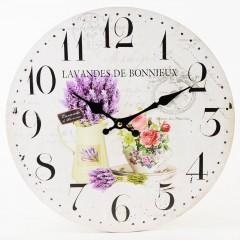 Nástenné hodiny, Flor0149, Levanduľa, 34cm