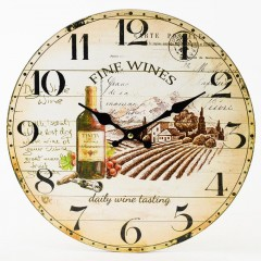 Nástenné hodiny, Flor0150, Fine Wines, 34cm
