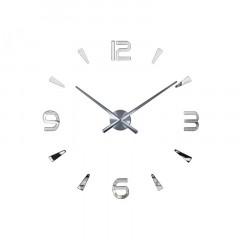3D Nalepovacie hodiny DIY Clock Evevo 277SXL, Silver 90-130cm