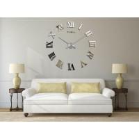 3D Nalepovacie hodiny DIY Clock Evevo 8274XL, Roman Mirror, 90-130cm