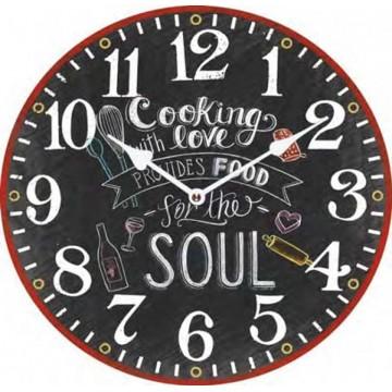 Nástenné hodiny Fal6288 Cooking Love, 30cm