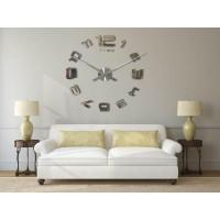 3D Nalepovacie hodiny DIY Clock Evevo 8232SXL, zrkadlové, 90-130cm