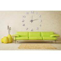 3D Nalepovacie hodiny DIY Clock Evevo 8233S,XL, Mirror, 90-130cm