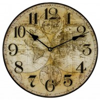 Nástenné hodiny, Mapa, Fal4044, 30cm