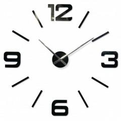 3D Nalepovacie hodiny DIY ADMIRABLE XL SWEEP z540g, čierne 100-130cm