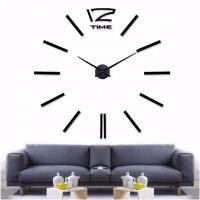 3D Nalepovacie hodiny DIY Clock 12 Time Black L 80-120cm