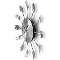 Nástenné hodiny Príbor zent 2645, 25 cm, strieborné