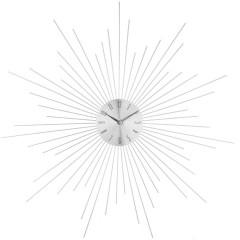 Nástenné hodiny Atmosphera Crystal SUN silver, 50cm