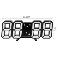 Led hodiny budík s budíkom Isot9143, 23cm