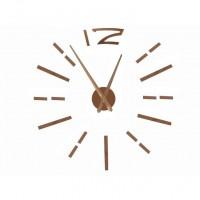 3D Nalepovacie hodiny DIY Clock BIG Time L, medené 80-130cm