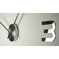 3D Nalepovacie hodiny DIY ADMIRABLE SWEEP z5400G Mirror, 80cm