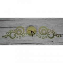 Nalepovacie nástenné hodiny Kruhy 7A7, 82x20cm