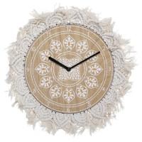 Nástenné Boho hodiny s tkaným rámom Atmosphera 9400, 38 cm