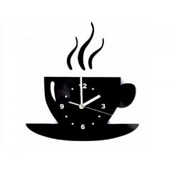 Nástenné hodiny, Coffee Time Black, lux099, 30cm