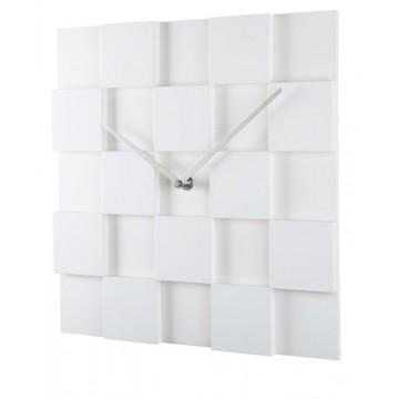 Nástenné hodiny ExitDesign KUBI, biele 30cm