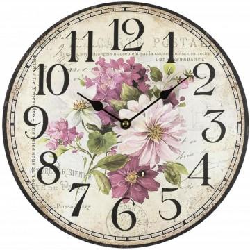 Nástenné hodiny Fal4190 Kvety, 30cm