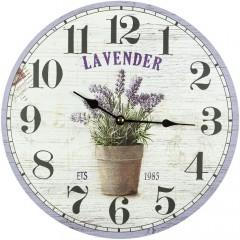 Nástenné hodiny Fal8817 Levanduľa, 30cm