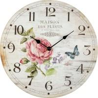 Nástenné hodiny Ruža Fal3048, 30cm