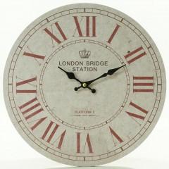 Nástenné hodiny, Flor0047, London Bridge Station, 34cm
