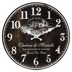 Nástenné hodiny, Flor0115, Merlot, 34cm