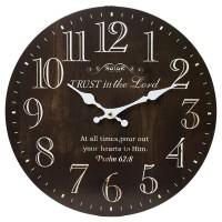Nástenné hodiny, Flor0112, Trust, 34cm