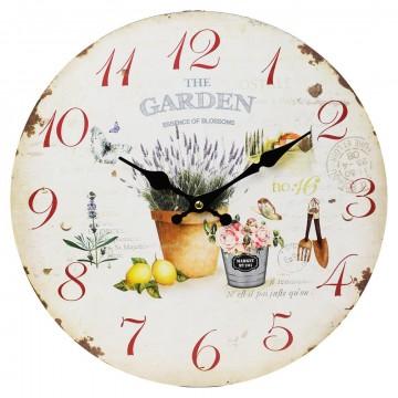 Nástenné hodiny, Flor0104, The Garden, 34cm