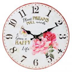 Nástenné hodiny, Flor0116, Ruže, 34cm