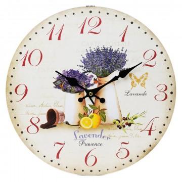 Nástenné hodiny, Flor0105, Levanduľa, 34cm