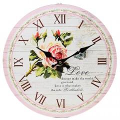 Nástenné hodiny, Flor0119, Love, 34cm