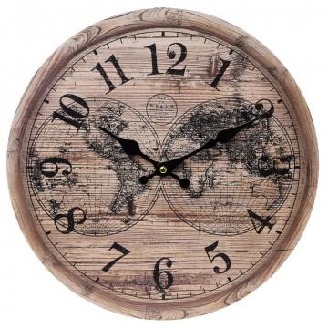 Nástenné hodiny, Flor0109, Mapa, 34cm