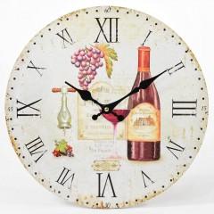 Nástenné hodiny, Flor0067, Hrozno, 34cm
