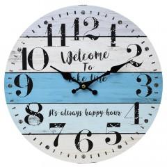 Nástenné hodiny, Flor0113, Welcome, 34cm