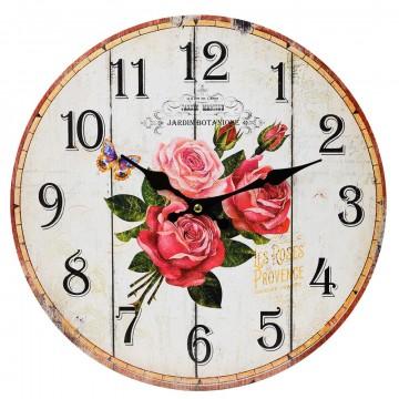 Nástenné hodiny, Flor0117, Jardin Botanique, 34cm