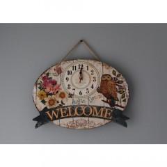 Nástenné hodiny, 7A7, Welcome, 35cm