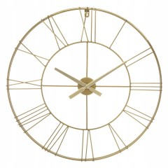 Nástenné kovové hodiny Atmosphera Vintage 977B, 70 cm, zlaté