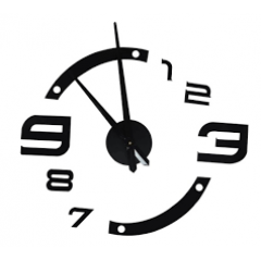 3D Nalepovacie hodiny DIY Clock, gotq70h, 80-130cm