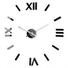3D Nalepovacie hodiny DIY ADMIRABLE SWEEP z5400C black, 80cm