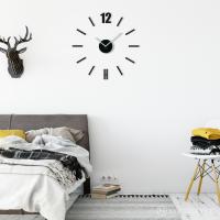 3D Nalepovacie hodiny DIY ADMIRABLE L SWEEP z54b-1, čierne 50-75cm