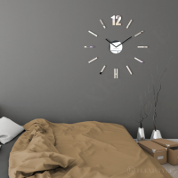 3D Nalepovacie hodiny DIY Admirable L SWEEP z54b-1, zrkadlové 50-75cm