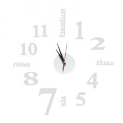 Nalepovacie nástenné hodiny, DIY d6 Twelve mini, Zrkadlové, 60cm