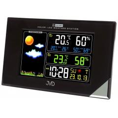 Rádiom riadená meteorologická stanica JVD čierna RB9197.1, 20cm
