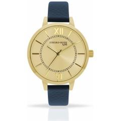 Náramkové hodinky JVD SUNDAY Rose Classic NAVY BLUE