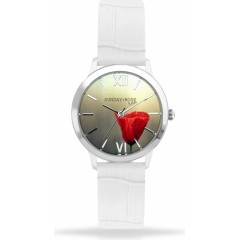 Náramkové hodinky JVD SUNDAY Rose Darling POPPY White