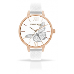 Náramkové hodinky JVD SUNDAY ROSE Alive Butterfly Sense