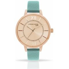 Náramkové hodinky JVD SUNDAY Rose Classic PASTEL GREEN