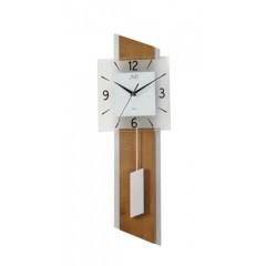 Drevené kyvadlové hodiny JVD NS19052.1 s plynulým chodom, 65 cm