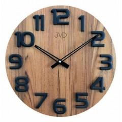 Nástenné hodiny drevené JVD HT97.1, 40cm